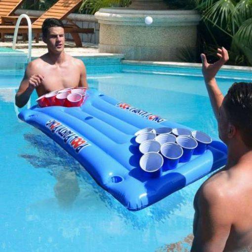 oppustelig beer pong pool
