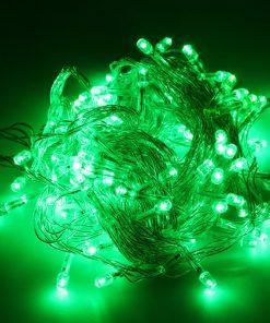 Lyskæde i grøn