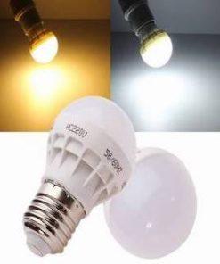 LED pære E27 3W, varm/kold hvid