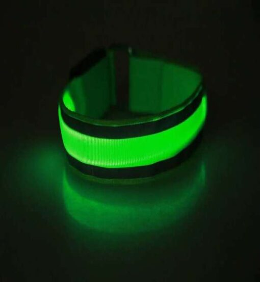 Refleksbaand LED groen