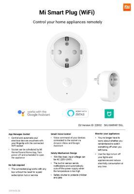 Xiaomi Mi Smart Plug specifikationer